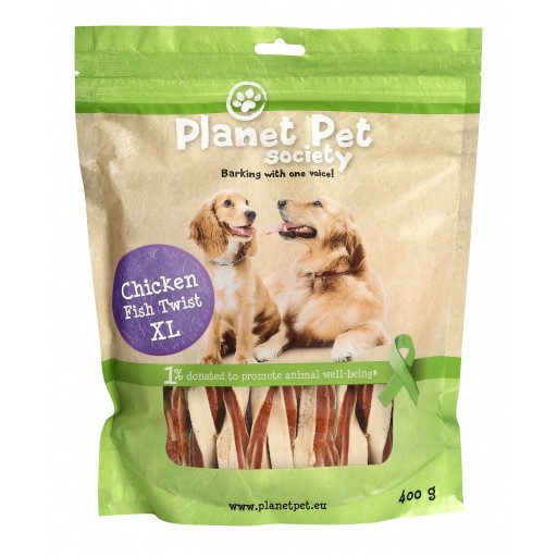 Planet Pet Dog Kyckling Fisk Twist