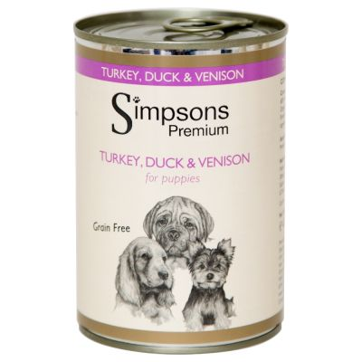 Simpsons Premium Turkey Duck and Venison for Puppies