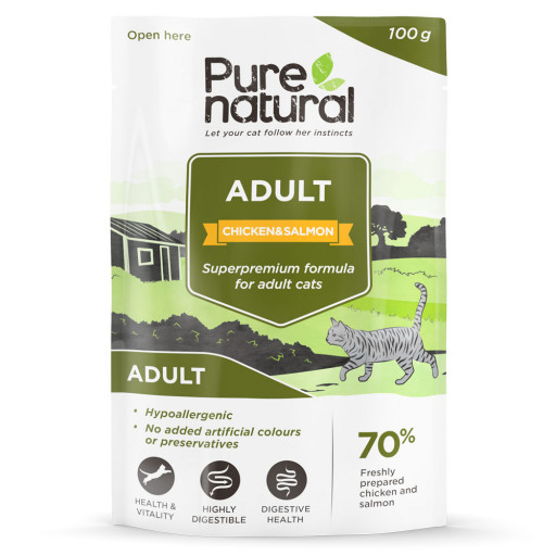 Pure Natural Cat Adult Chicken Salmon