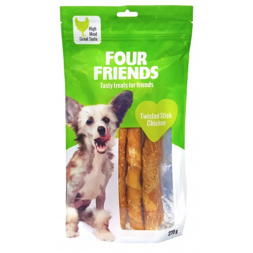 FourFriends Twisted Stick Chicken 25 cm 4pack
