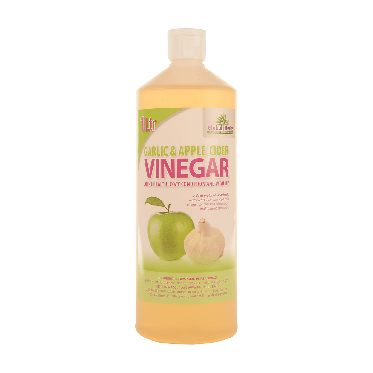 Global Herbs Apple Garlic Cider Vinegar