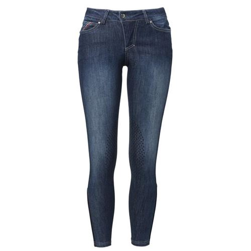 Mountain Horse Bella Denim Grip Helskodd Ridbyxa